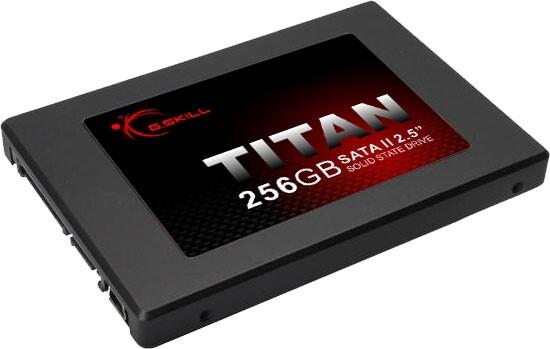 """G.Skill Titan SATA II 2.5"""" Solid State Drive 256 GB"""