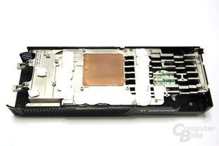 GeForce GTX 285 Kühlerrückseite