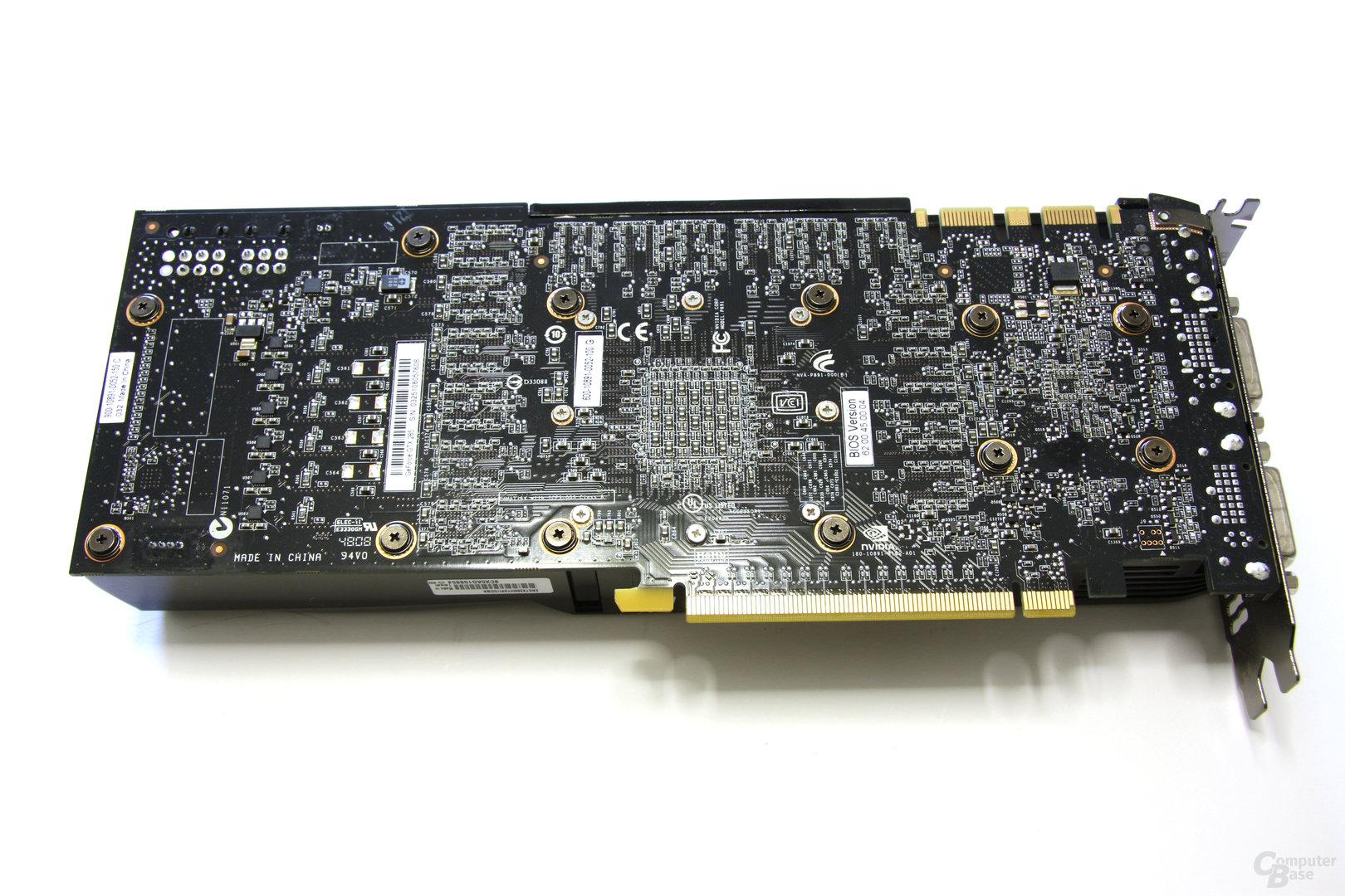GeForce GTX 285 Rückseite