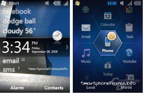 Konzeptstudien für Windows Mobile 6.5