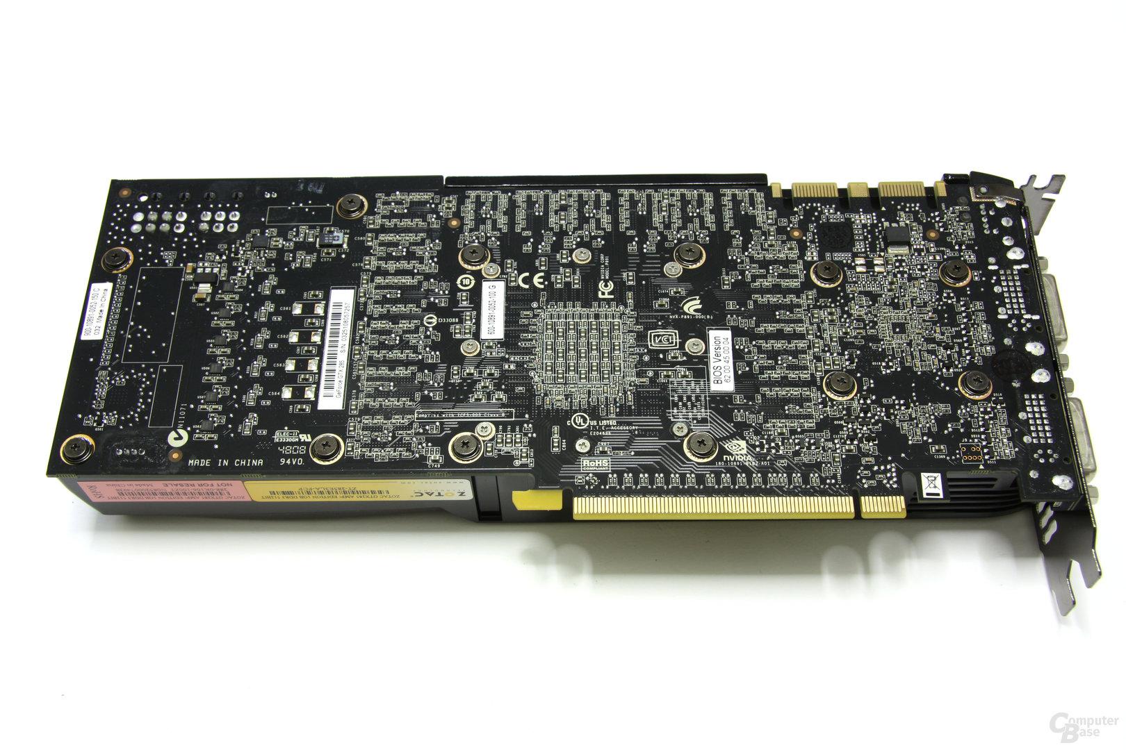 Zotac GeForce GTX 285 AMP! Rückseite