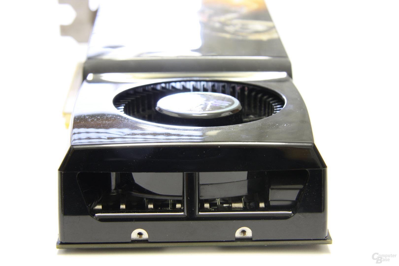 Asus GeForce GTX 285 TOP von hinten
