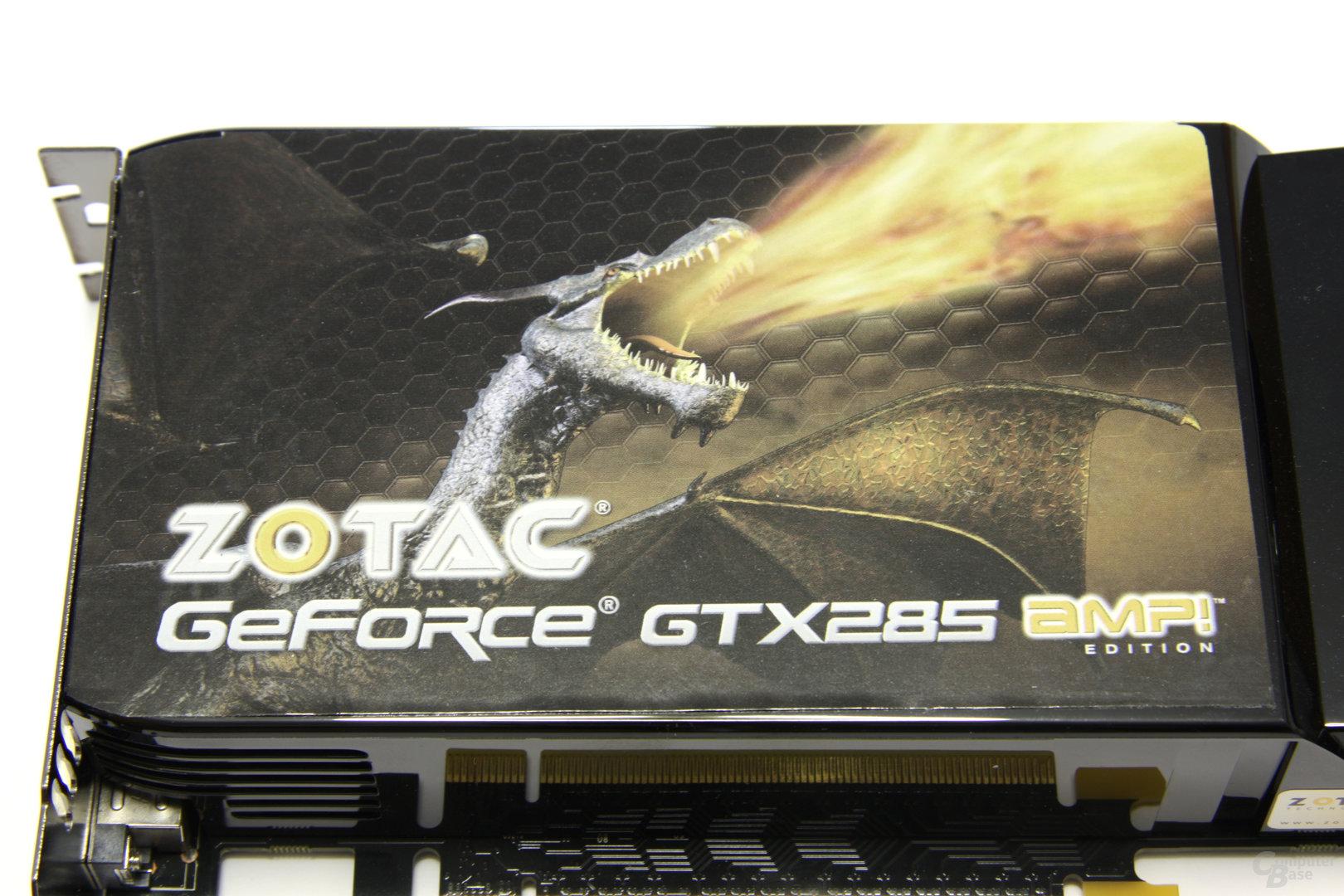 Zotac GeForce GTX 285 AMP! Aufkleber