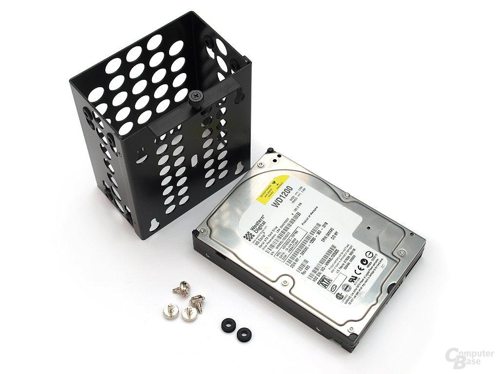 Zwei HDD-Rahmen inklusive Entkopplung