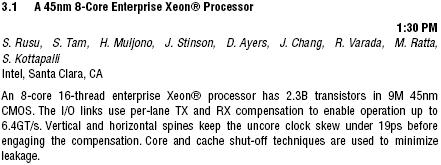 Intel Xeon mit acht Kernen
