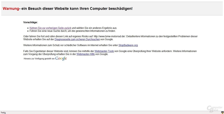 Google Warnung