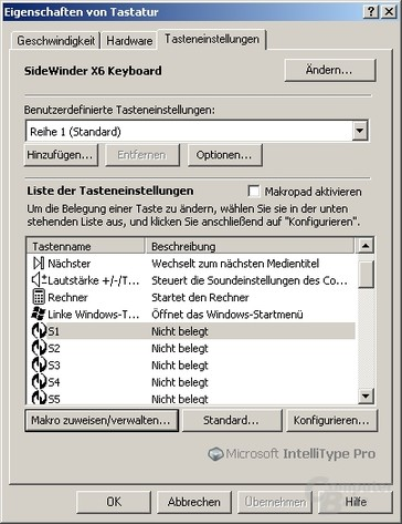 Übersicht IntelliPoint Pro