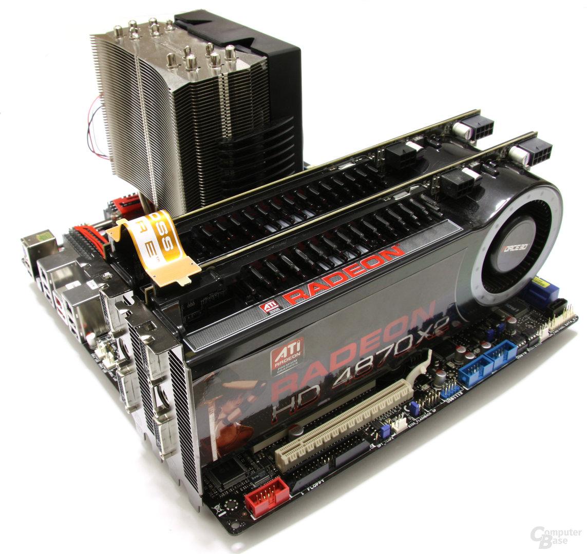 Quad-CrossFire mit HD 4870 X2