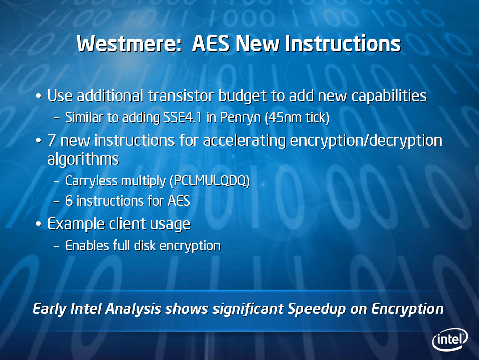 Intel-Roadmap mit Westmere in 32 nm