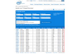 Intel Spec Finder