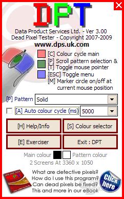 DPT mainscreen