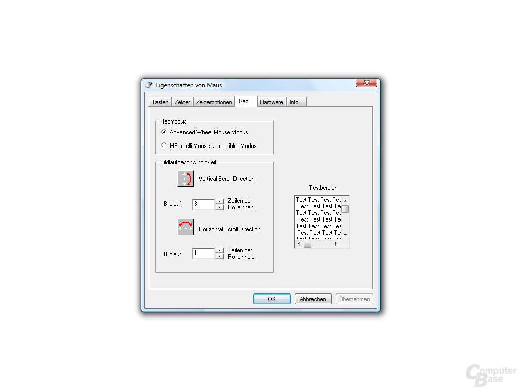 4-Wege-Mausrad-Ergänzung für Windows-Treiber