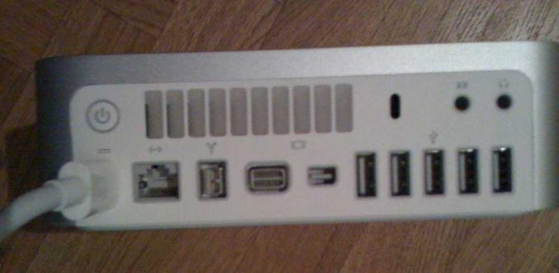 Apples neuer Mac mini mit Mini-DisplayPort und Mini-DVI?