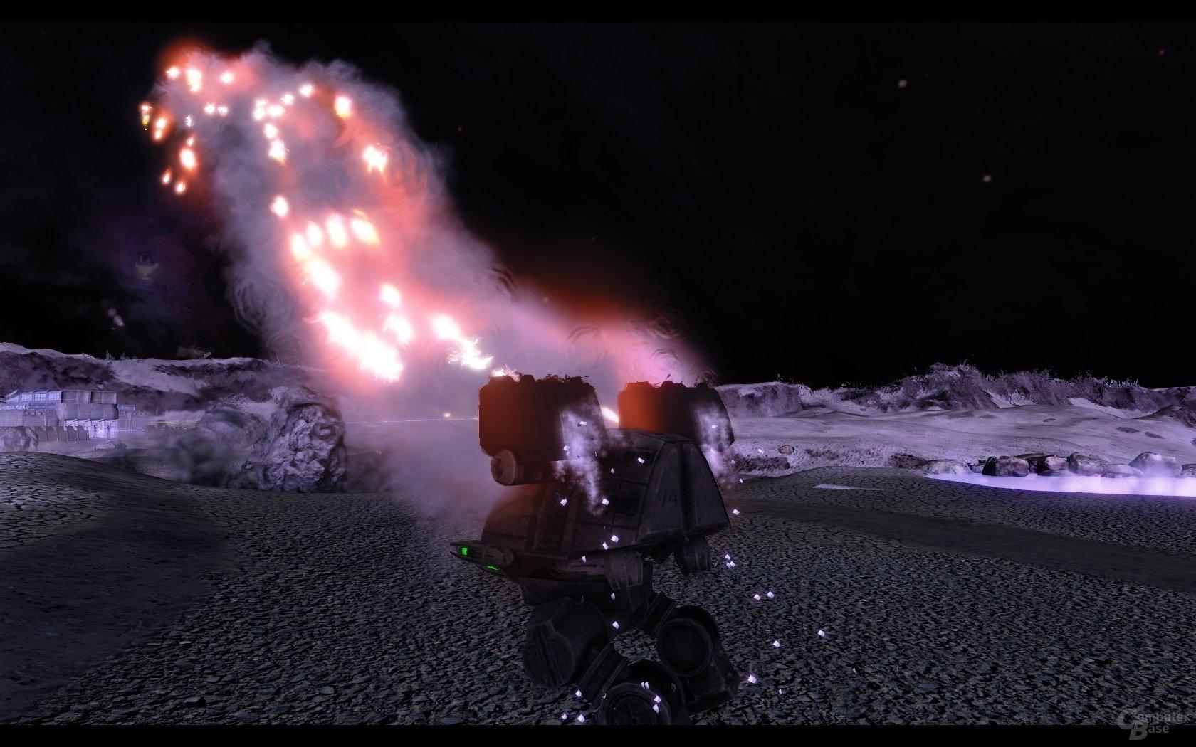 Mech vom Typ Catapult (Inner Sphere) feuert LRMs ab