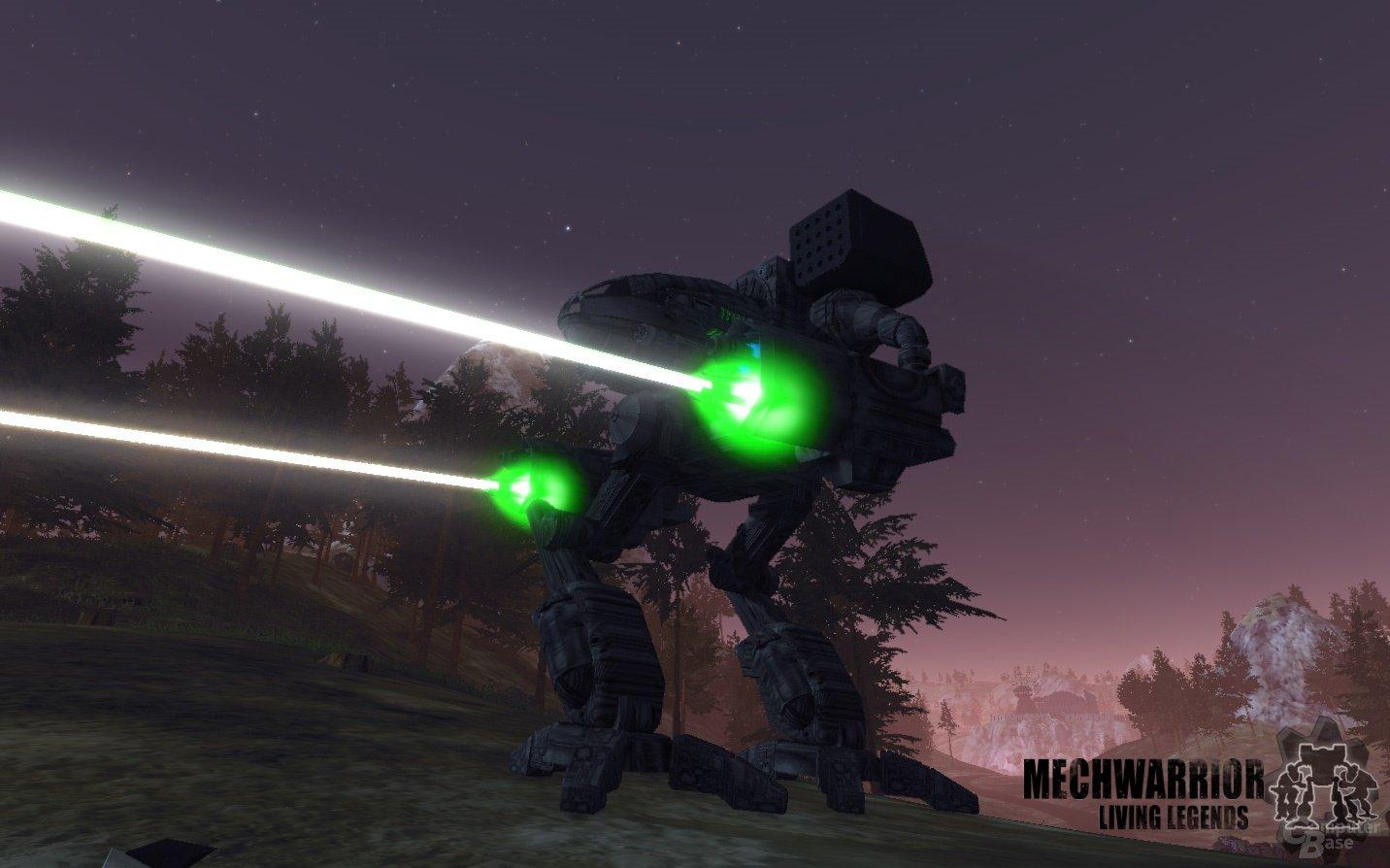 Mech vom Typ Madcat (Clan) auf der Map ClearCut