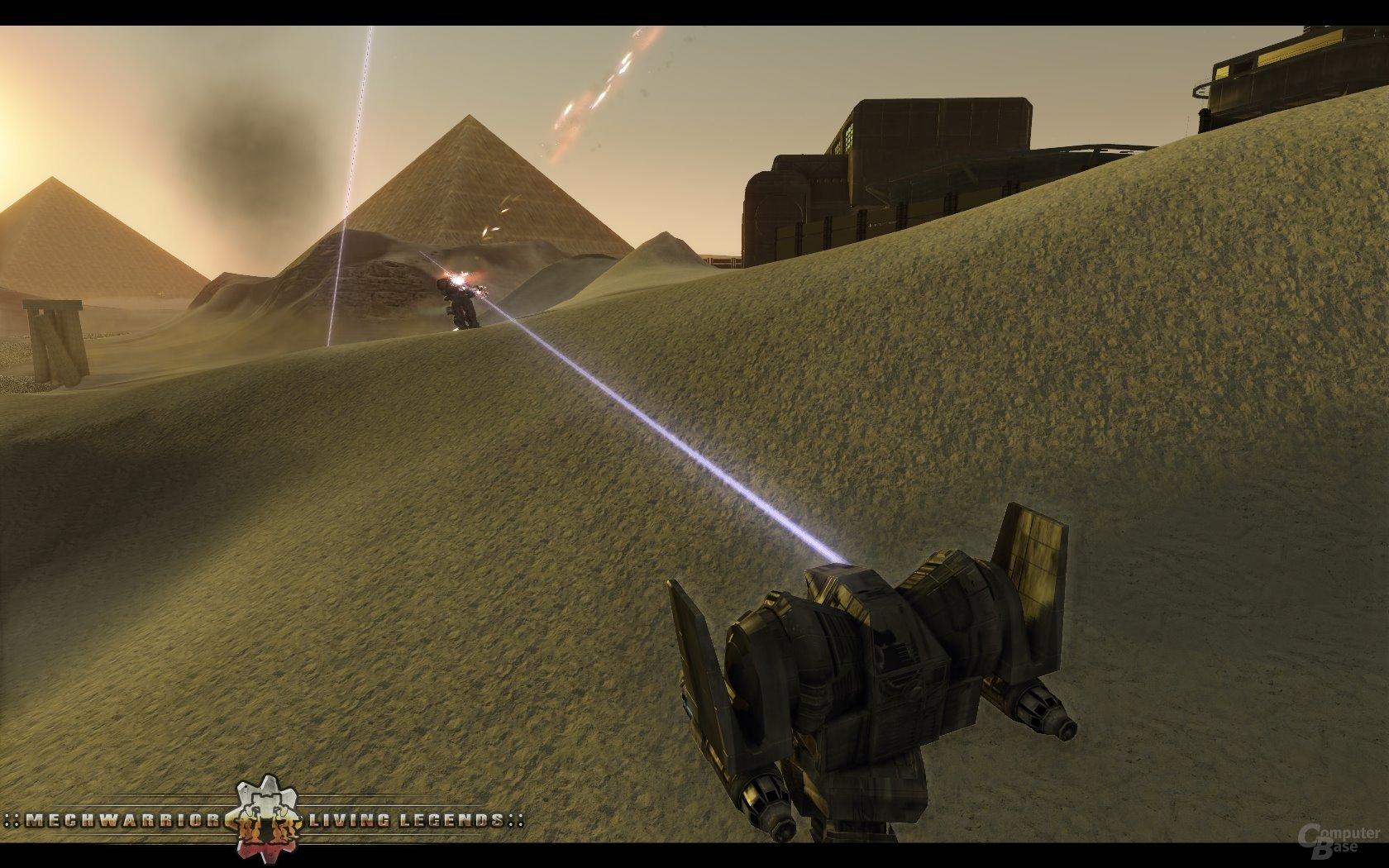 Kampfszene auf der Map Sandblasted (Solaris-Arena-Modus)
