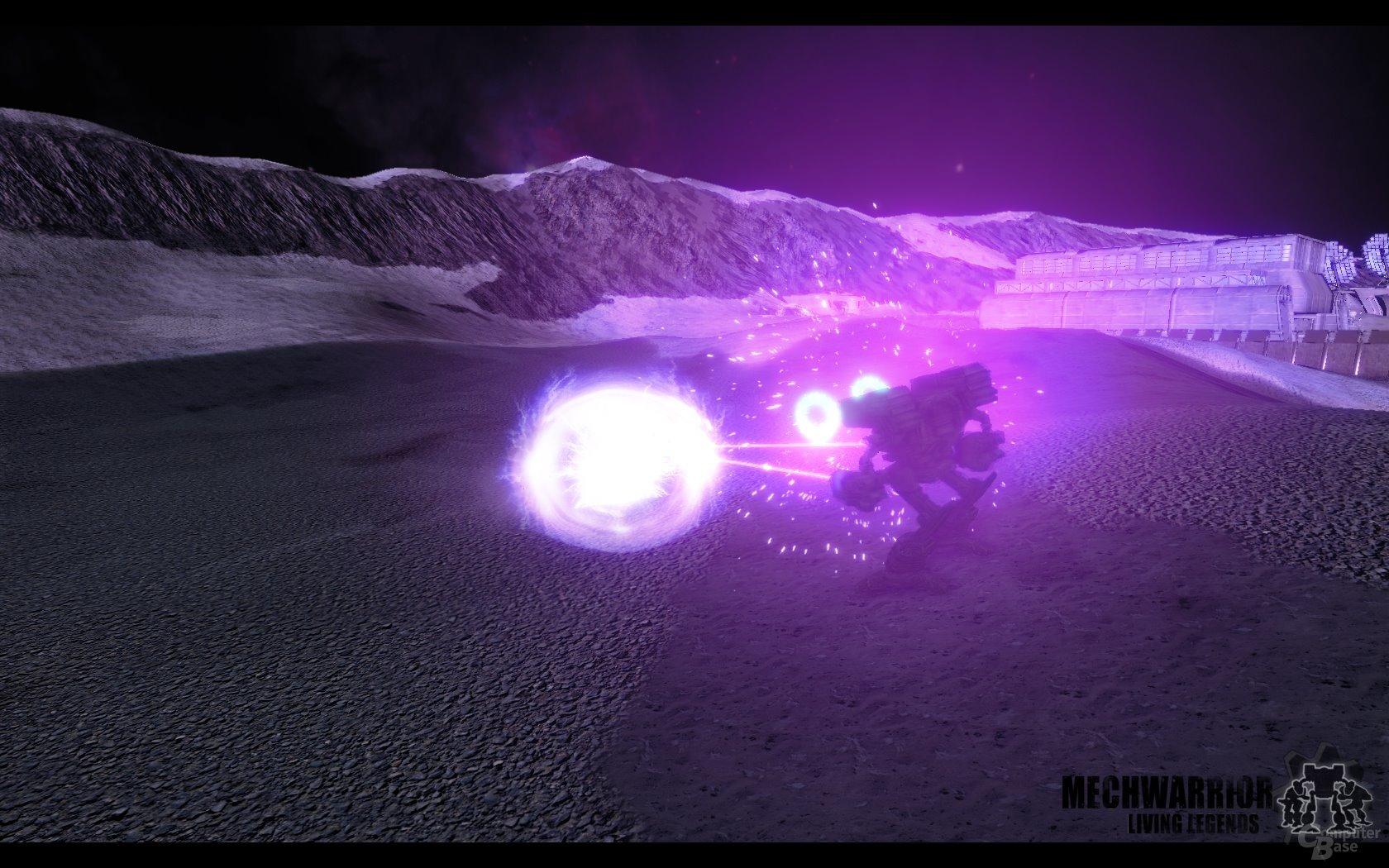 Lichteffekte aus energetischen Waffen