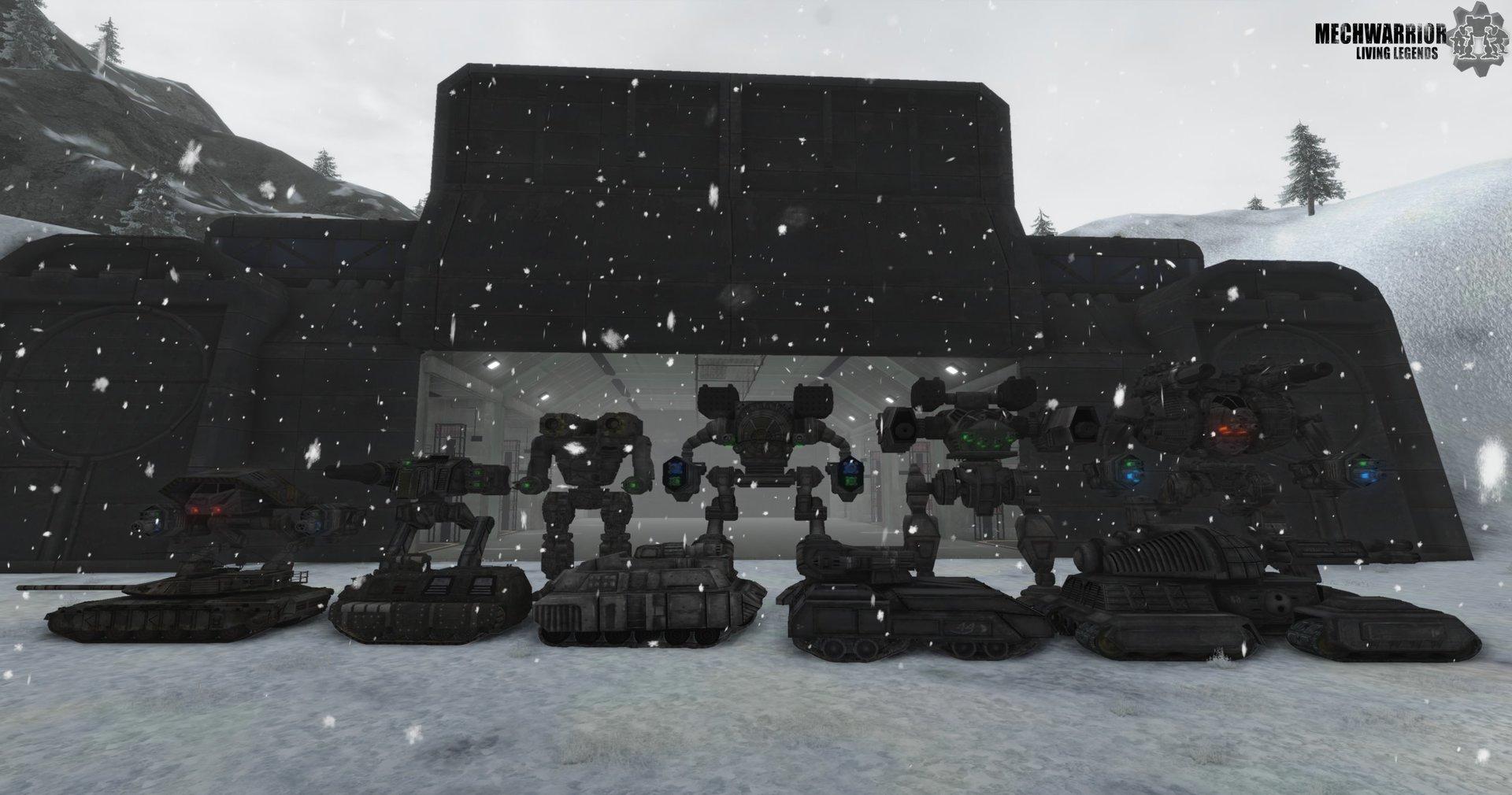 Größenverhältnisse: Mechs und Panzer des Clans