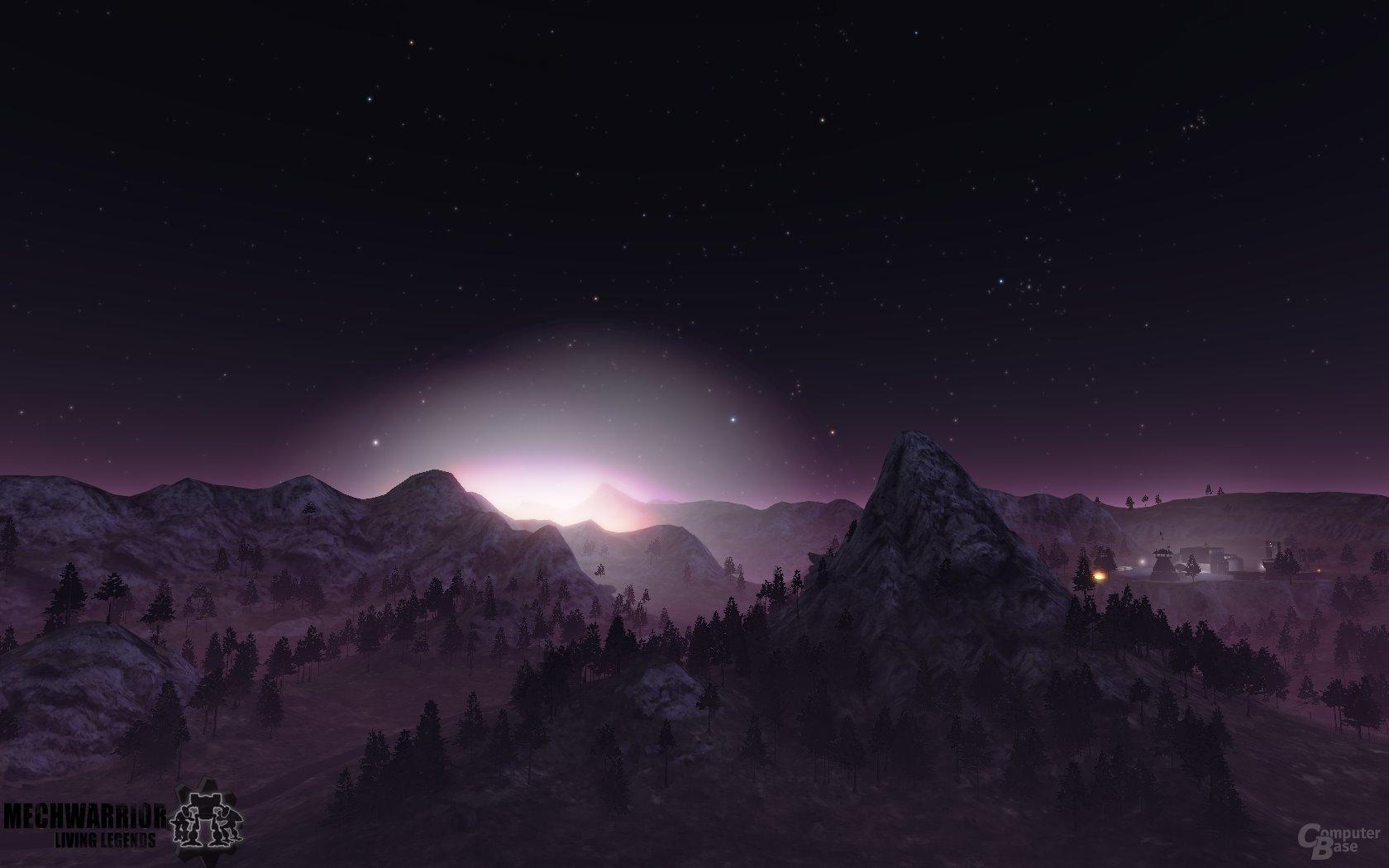 Kernschmelze am Nachthimmel auf der Map ClearCut