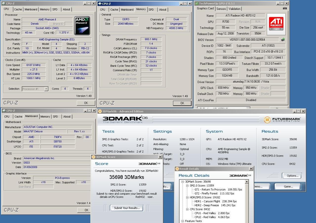 Neue Rekorde mit einem AMD Phenom II X4 bei weit über 6 GHz