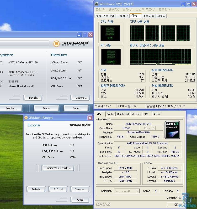 Vorher Phenom II X3 710, danach Phenom II X4  10