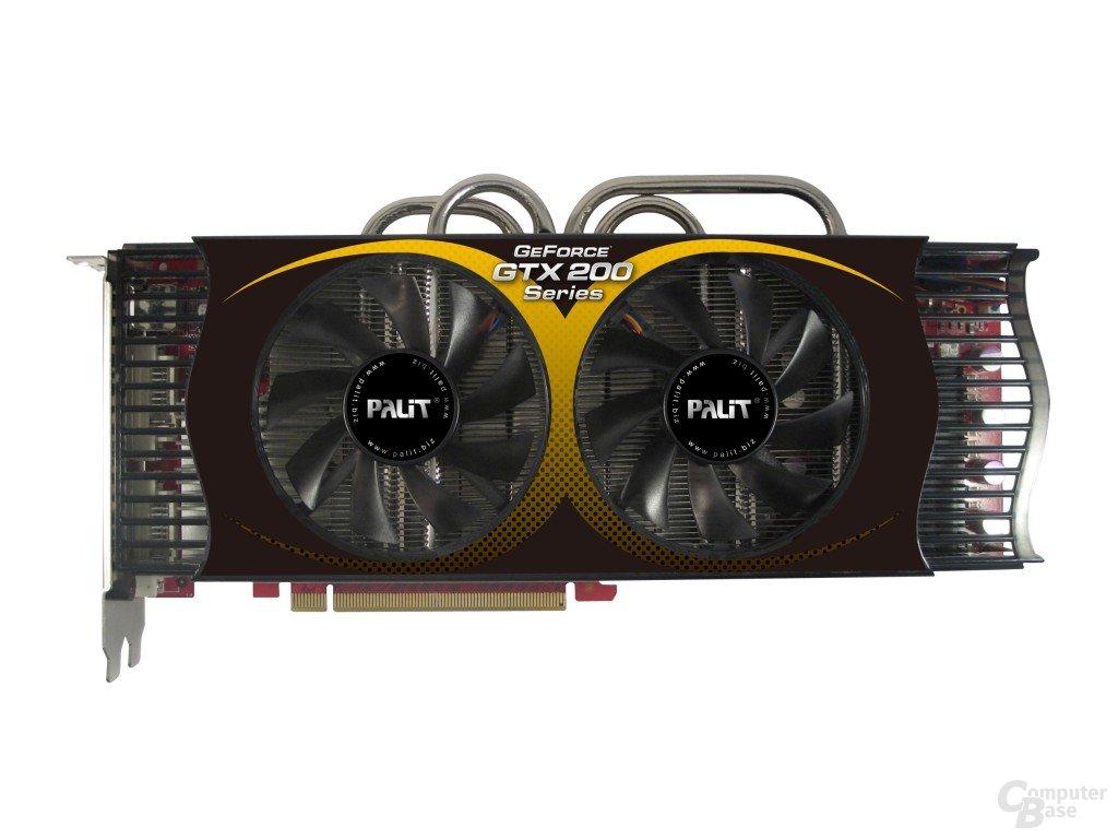 Palit GeForce GTX 285 mit 2 GByte Speicher und neuem Kühler