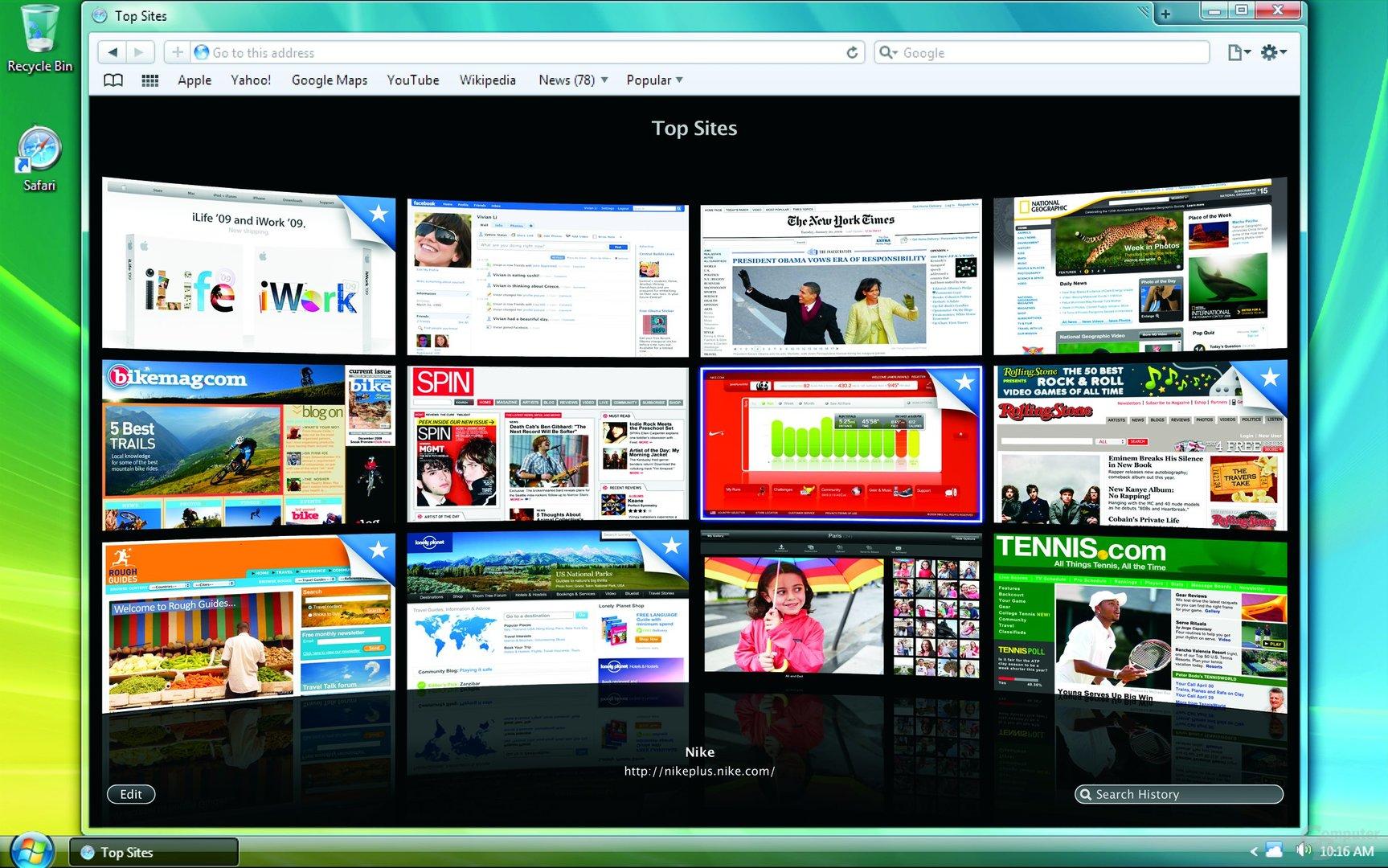 Safari 4 unter Windows Vista