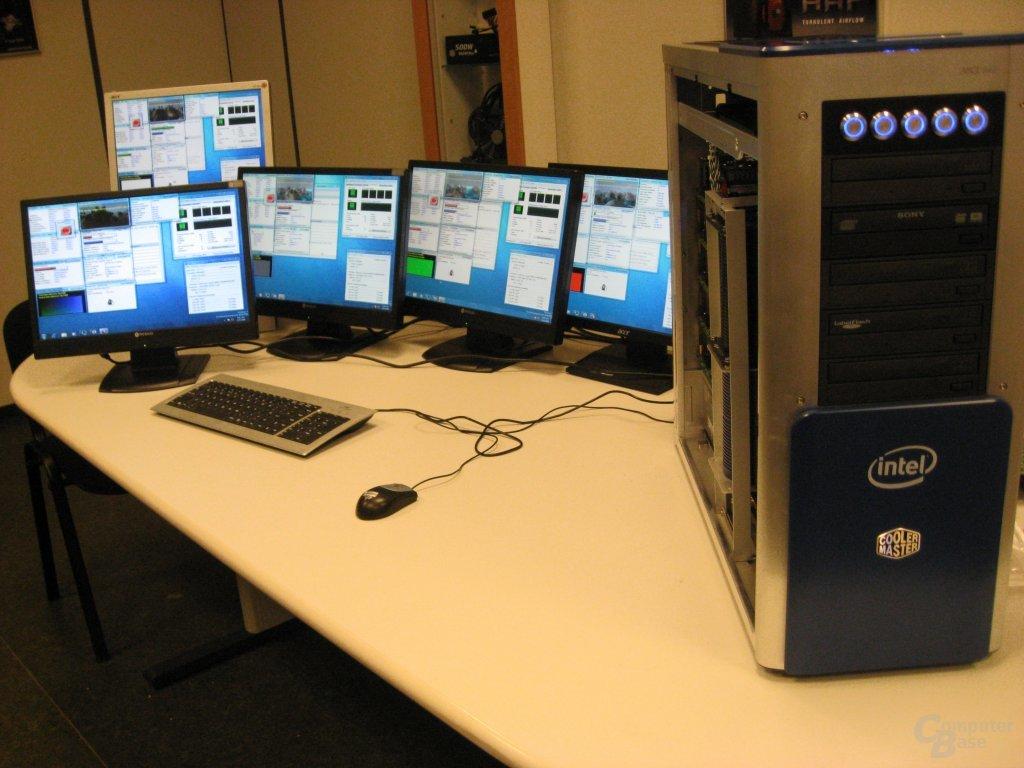 Fünf Quad-Core-Systeme unter Volllast