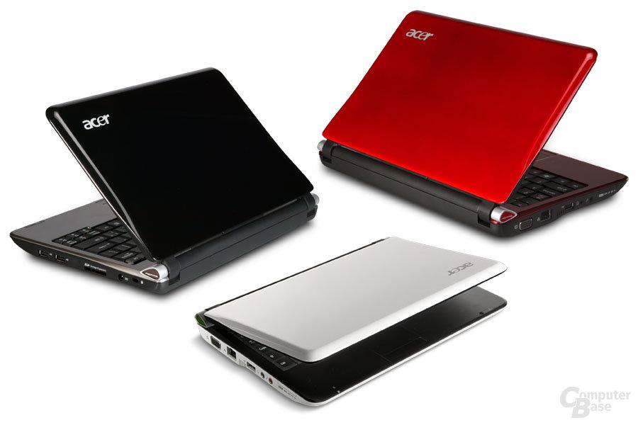 Zum Vergleich: Die bisherigen Acer Aspire one