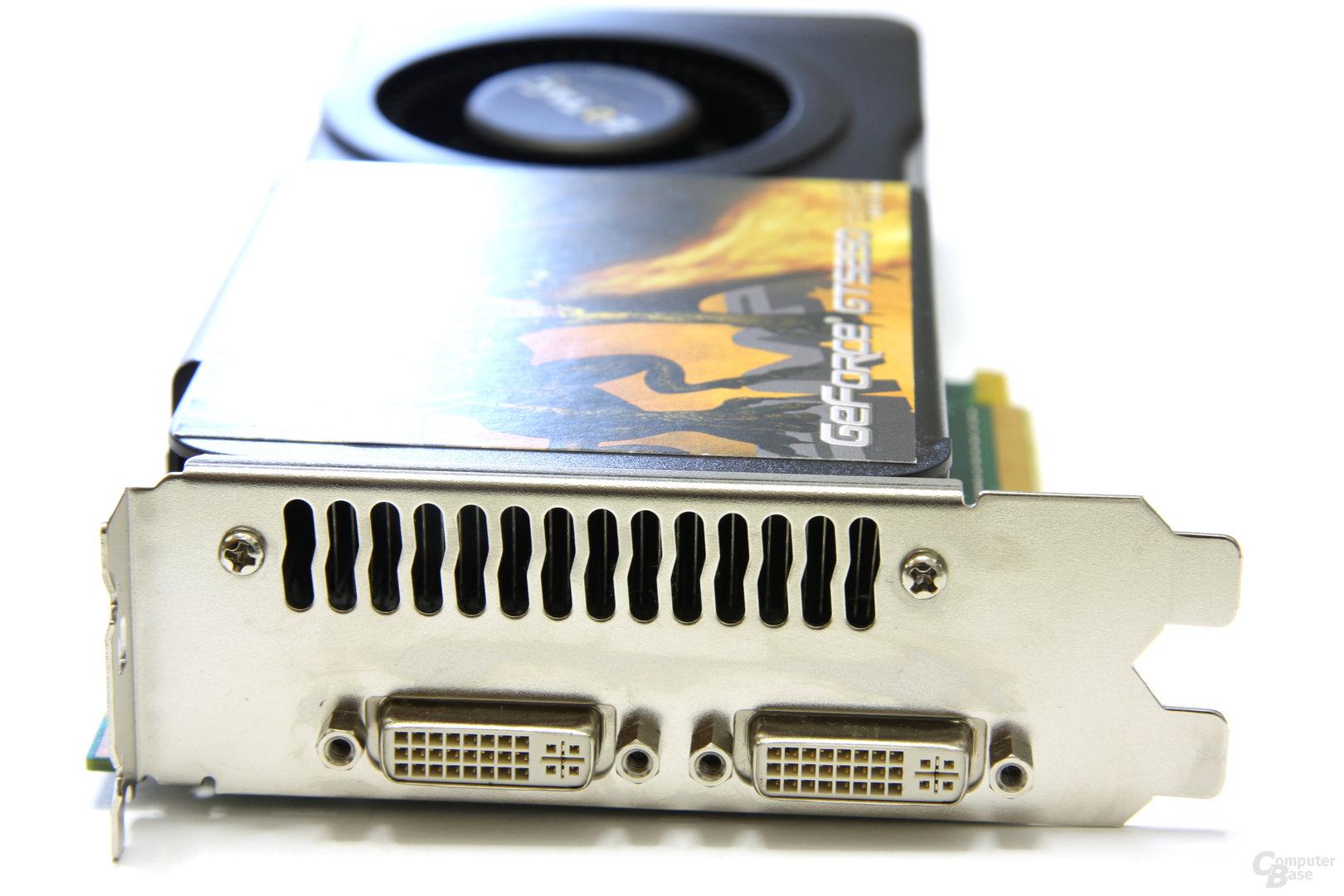 GeForce GTS 250 Slotblech