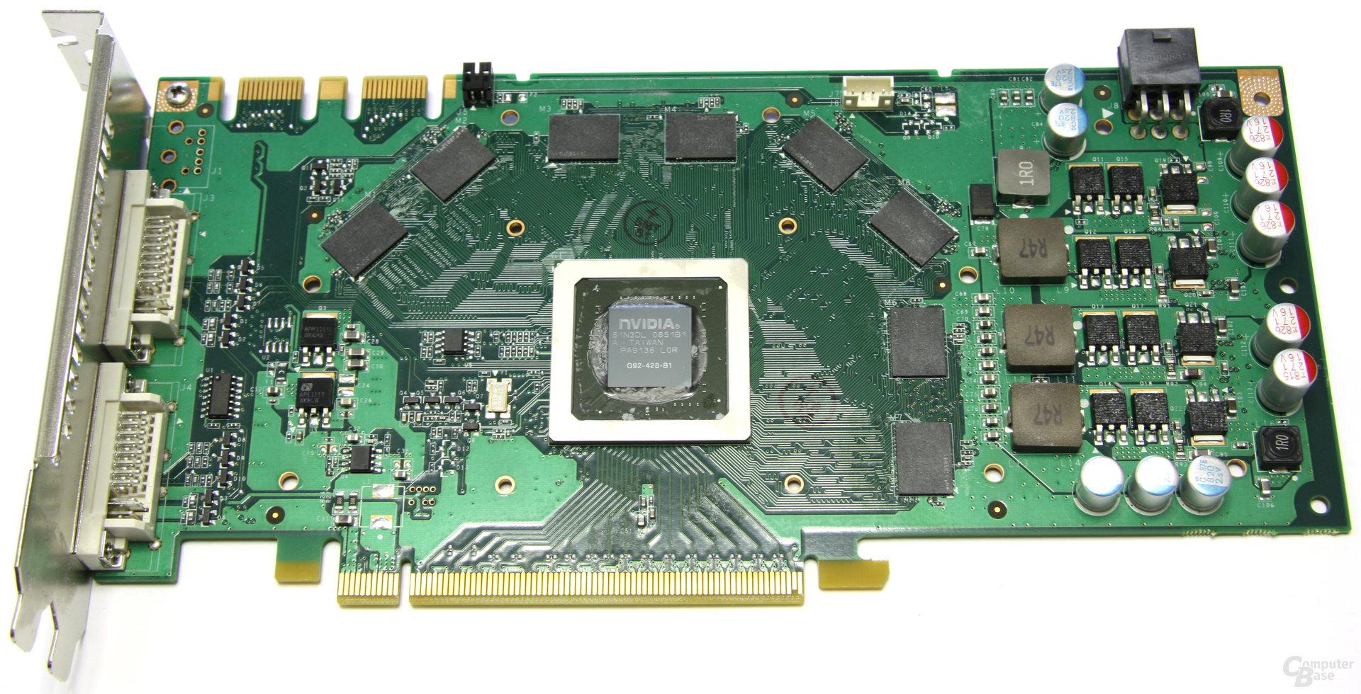 GeForce GTS 250 ohne Kühler