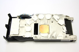 GeForce GTS 250 Kühlerrückseite