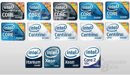 Zukünftige Intel-Logos