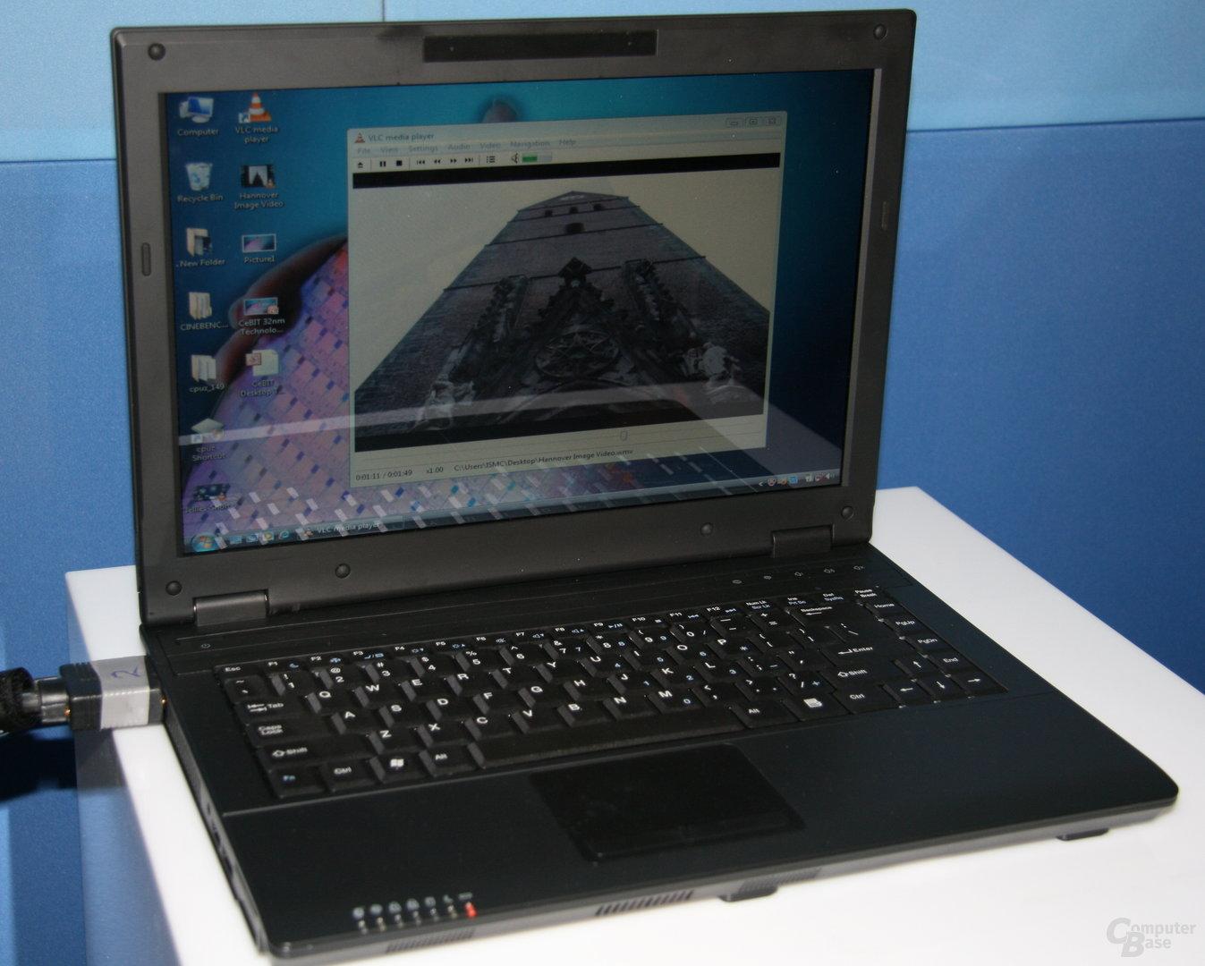 32-nm-CPUs während Intels Pressekonferenz auf der CeBIT 2009