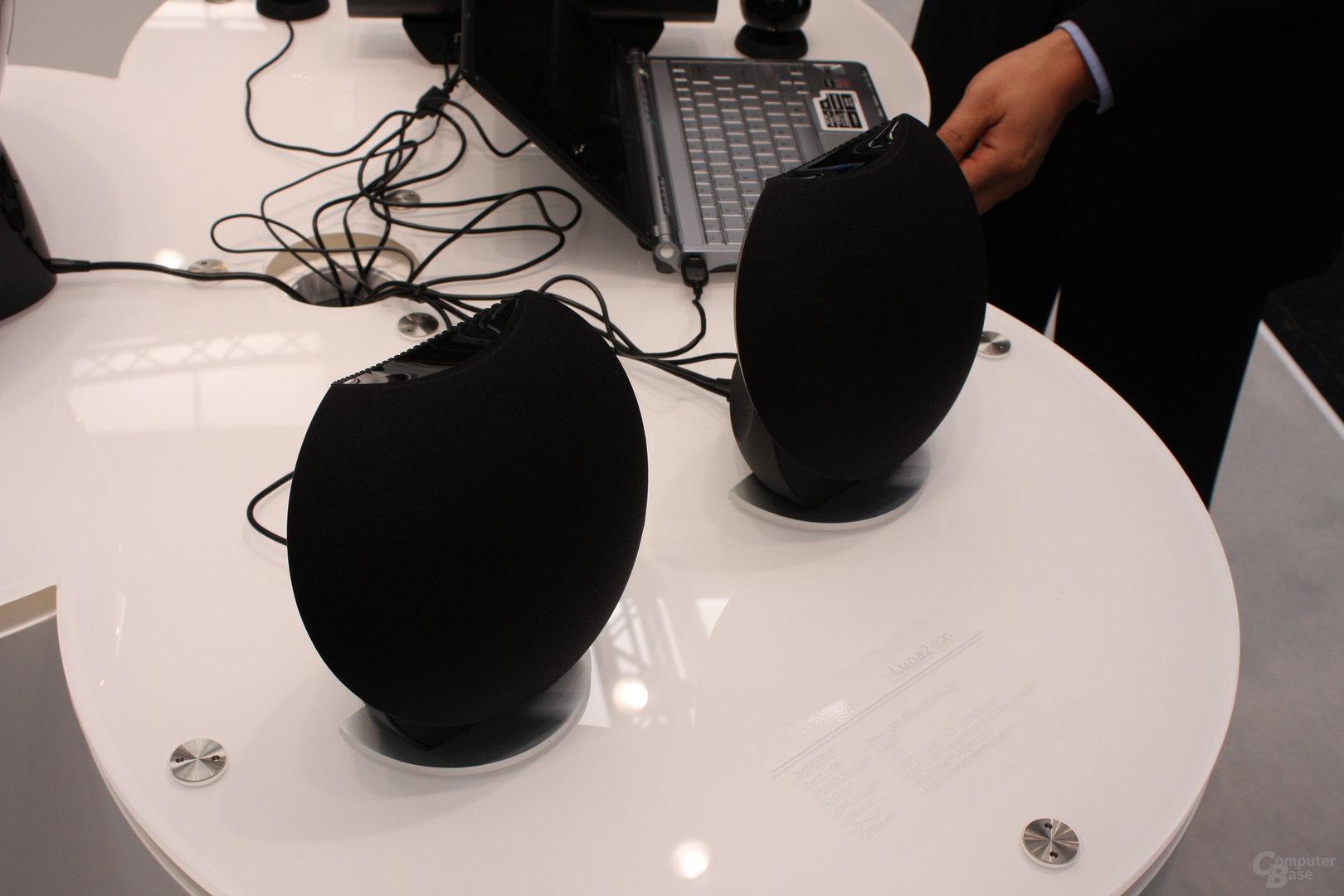 Edifier auf der CeBIT (2.0-Lautsprecher Luna 2)