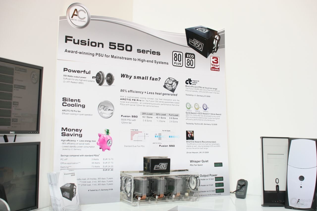 Demonstration des Fusion 550
