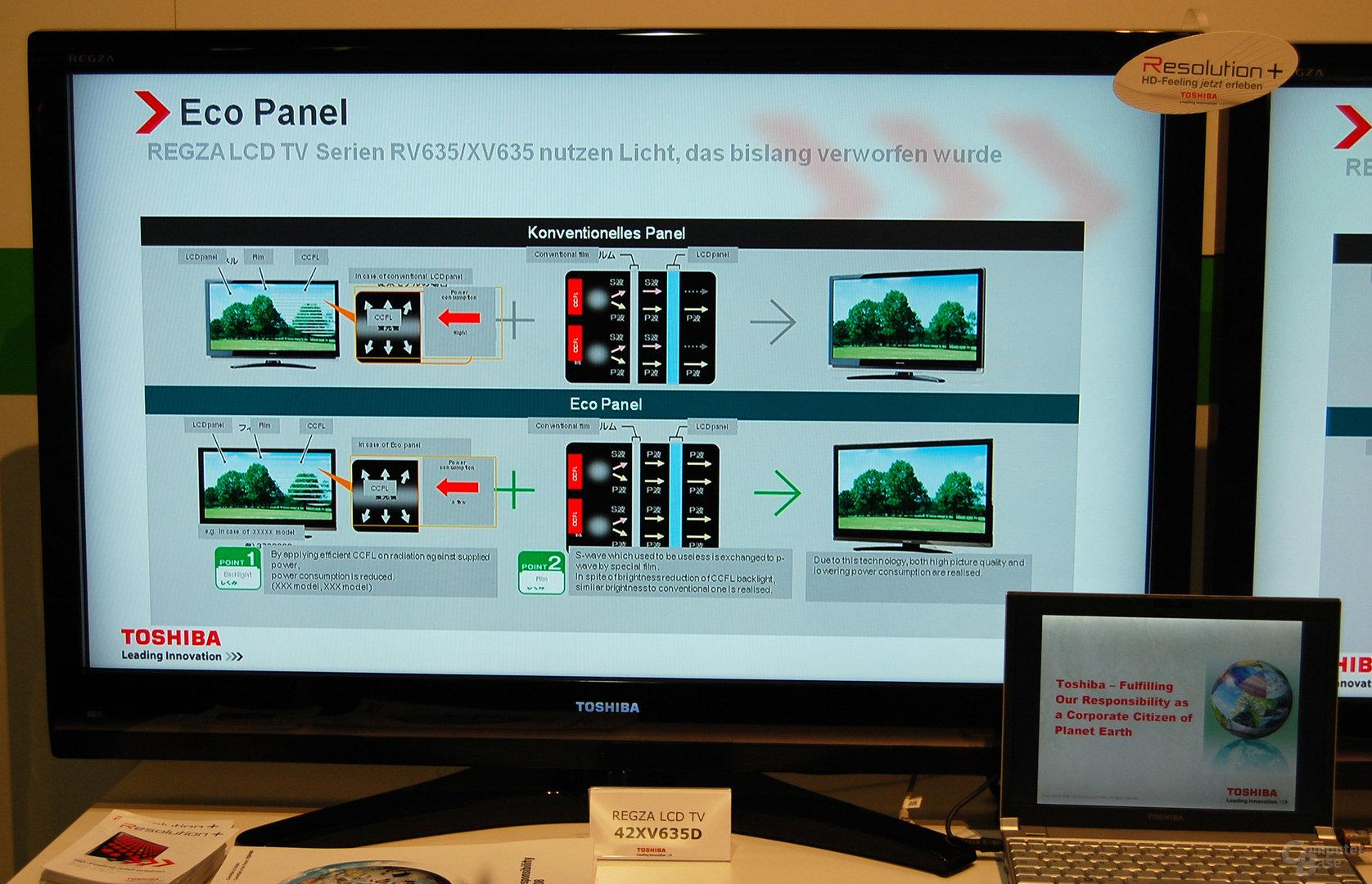 Toshibas Eco-TVs 42RV635D und 42XV635D