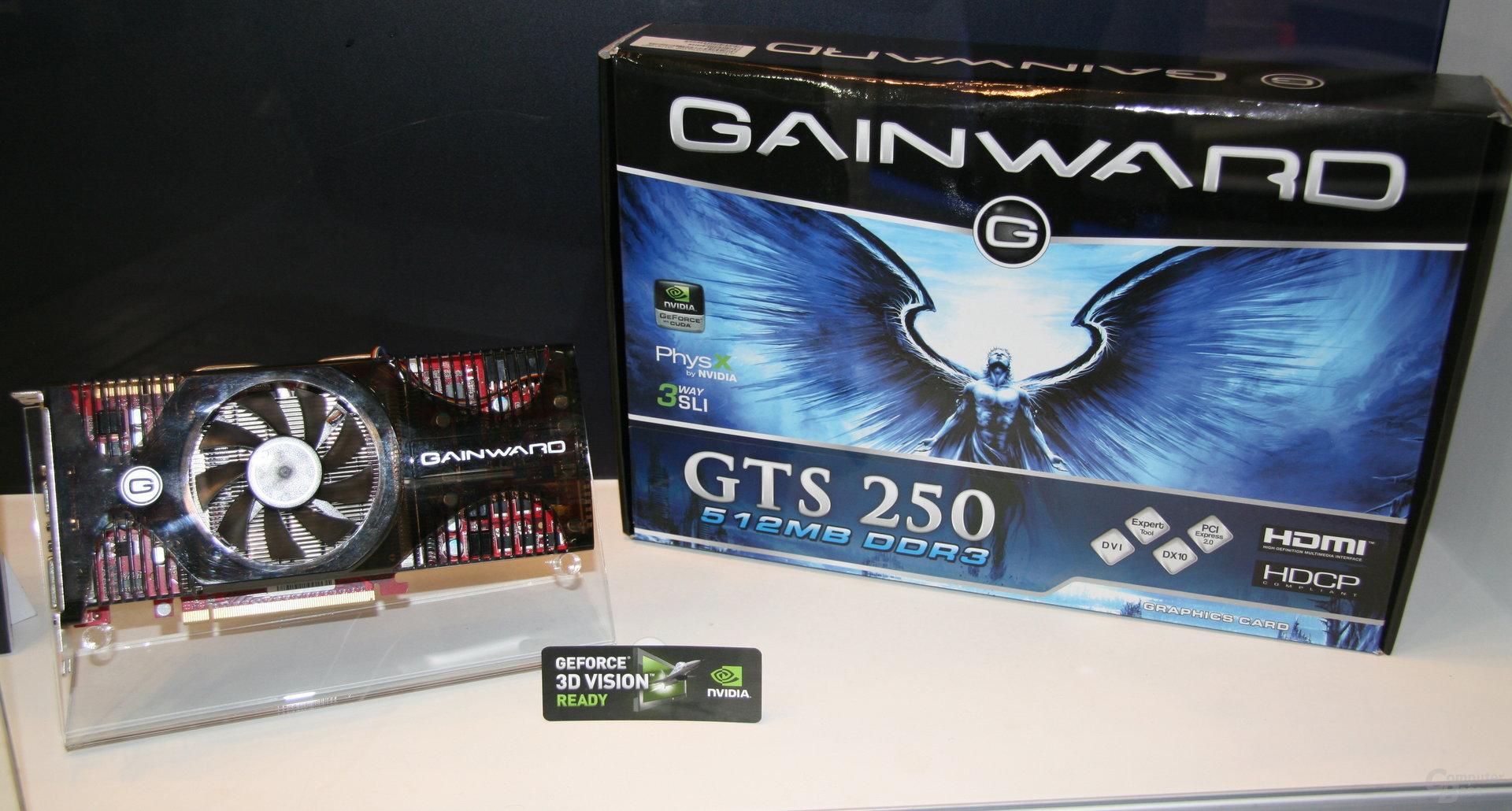 Gainward GTS 250 mit 512 MByte Speicher