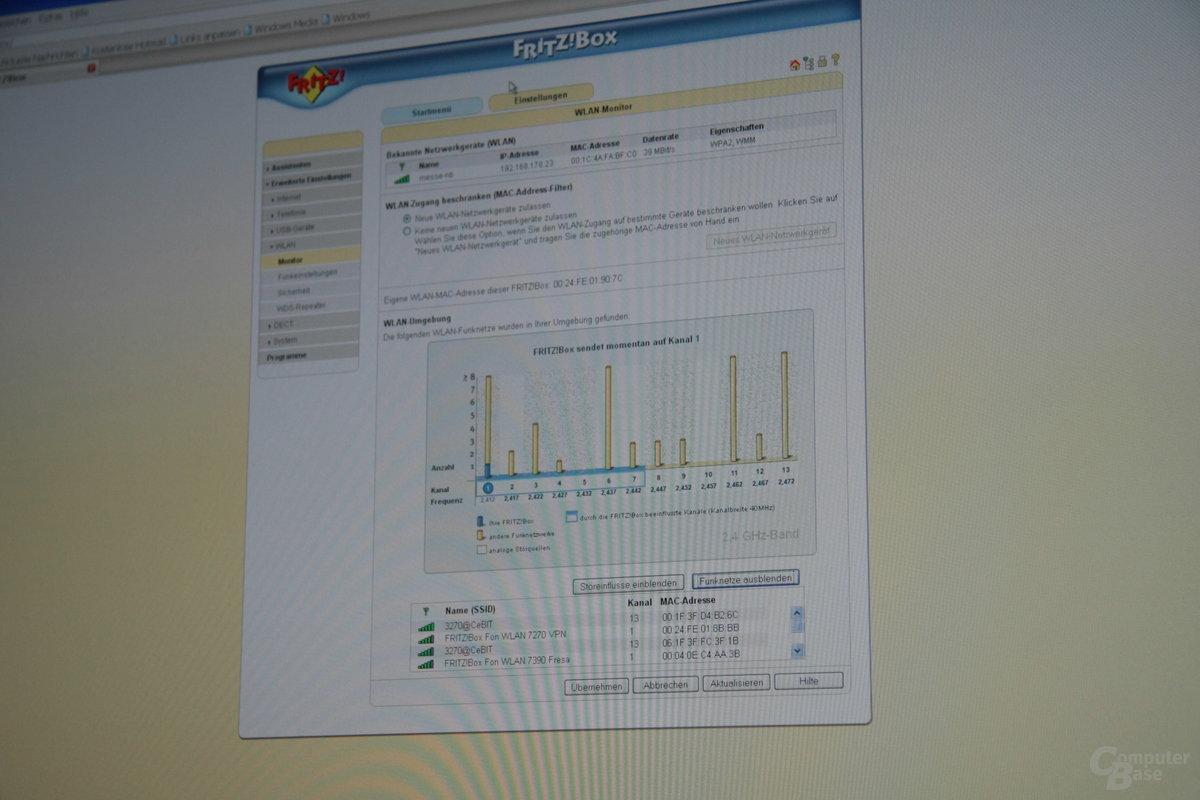 Verfügbare Laborfirmware: WLAN-Störquellen