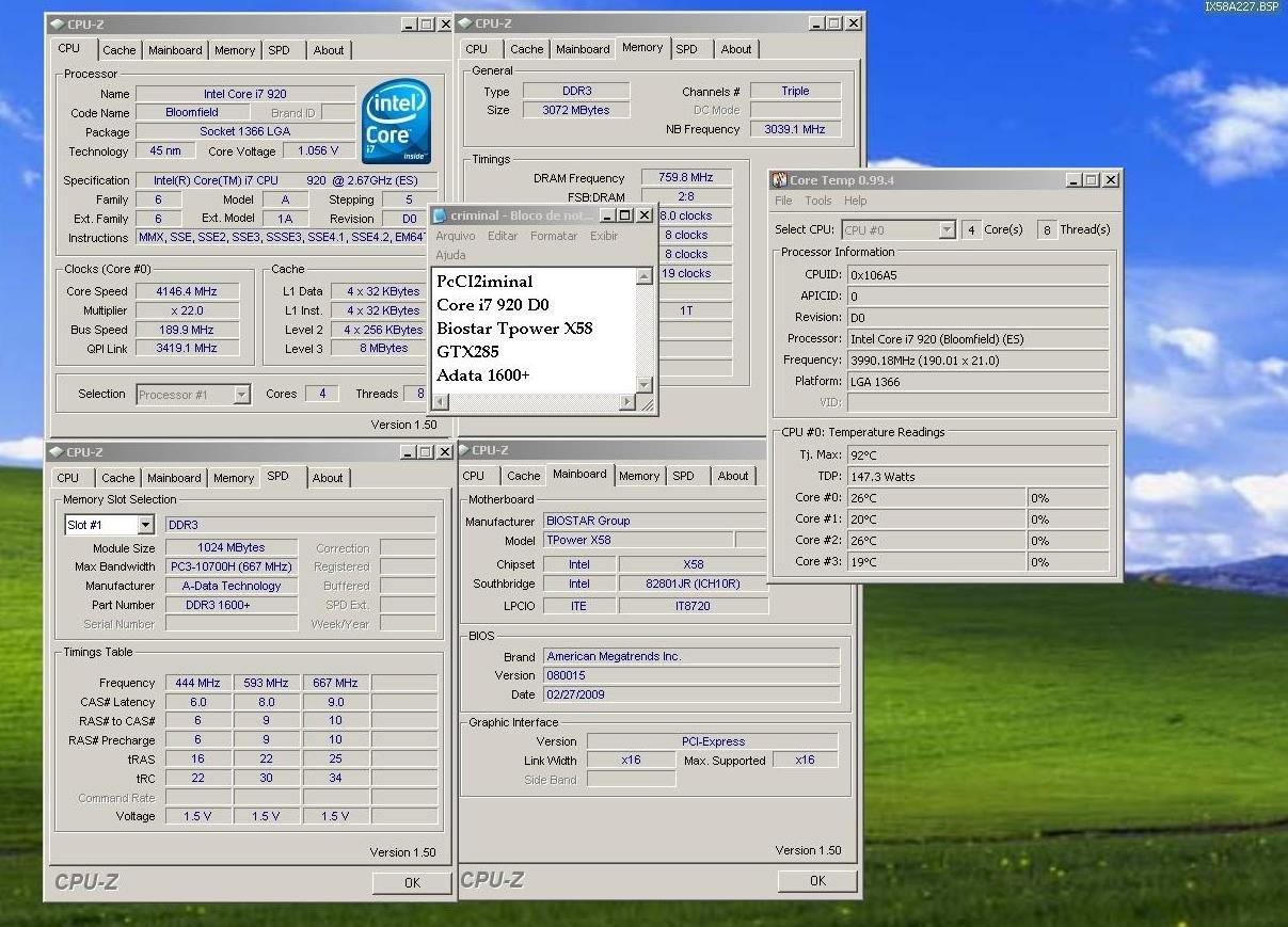 Core i7-920 im D0-Stepping bei 4,14 GHz bei 1,25 Volt