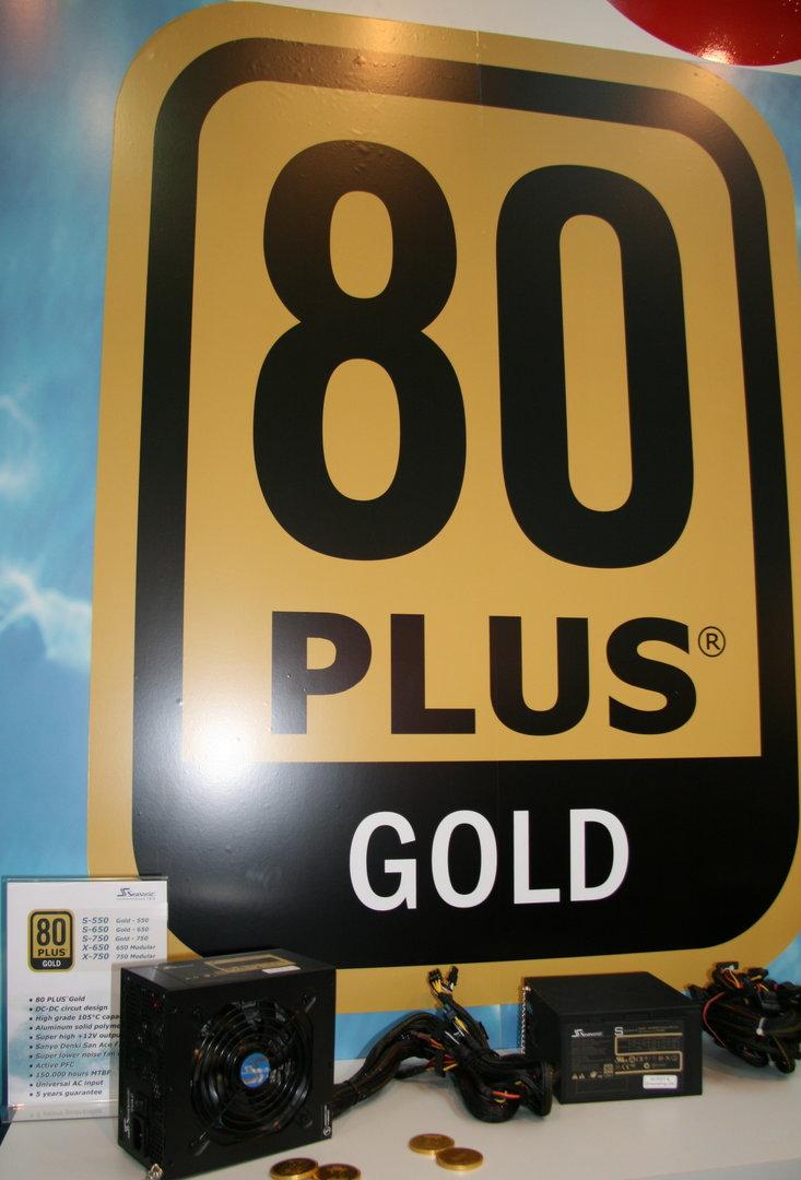 """Netzteile der Kategorie """"80 Plus Gold"""" auf der CeBIT 2009"""