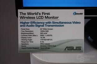 Spezifikationen des noch namenlosen Asus-Monitors mit Wireless USB