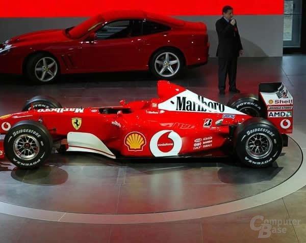 Der neue Ferrari mit AMD Logo