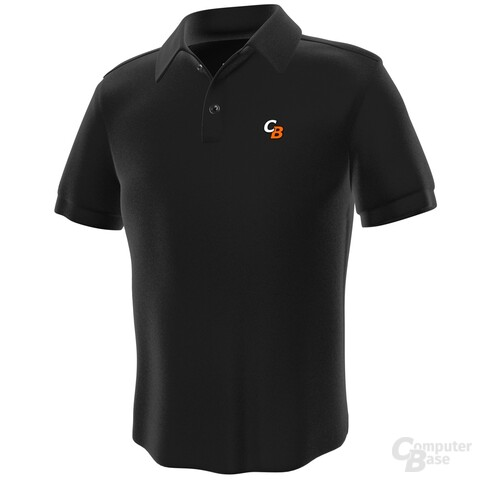 Polo-Shirts ComputerBase – Vorderseite