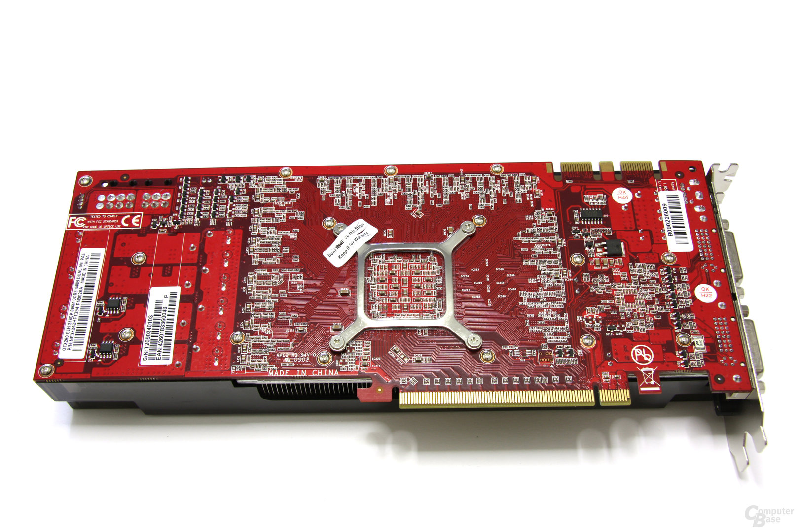 GeForce GTX 260 GS GLH Rückseite
