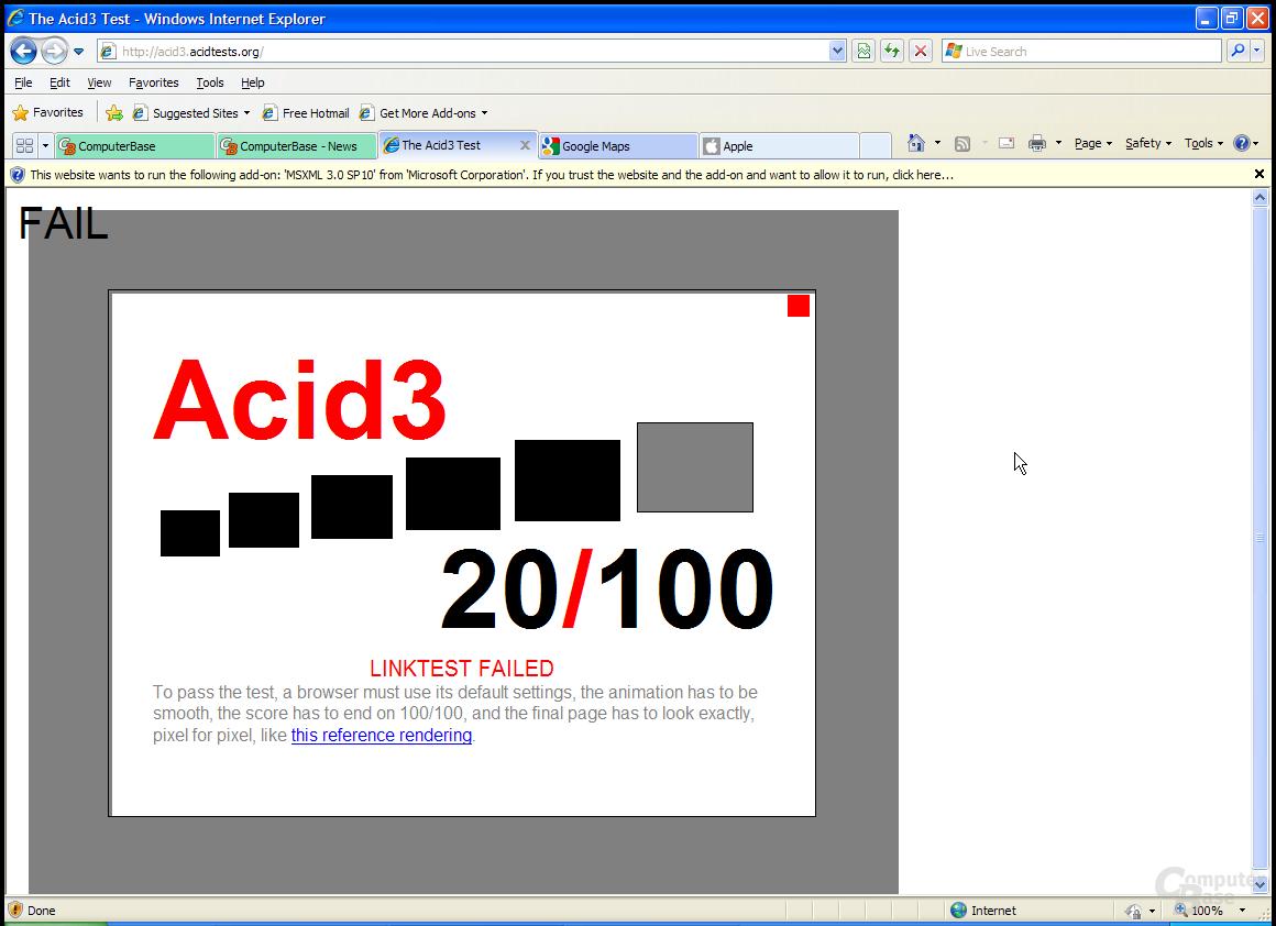Internet Explorer 8 RC1