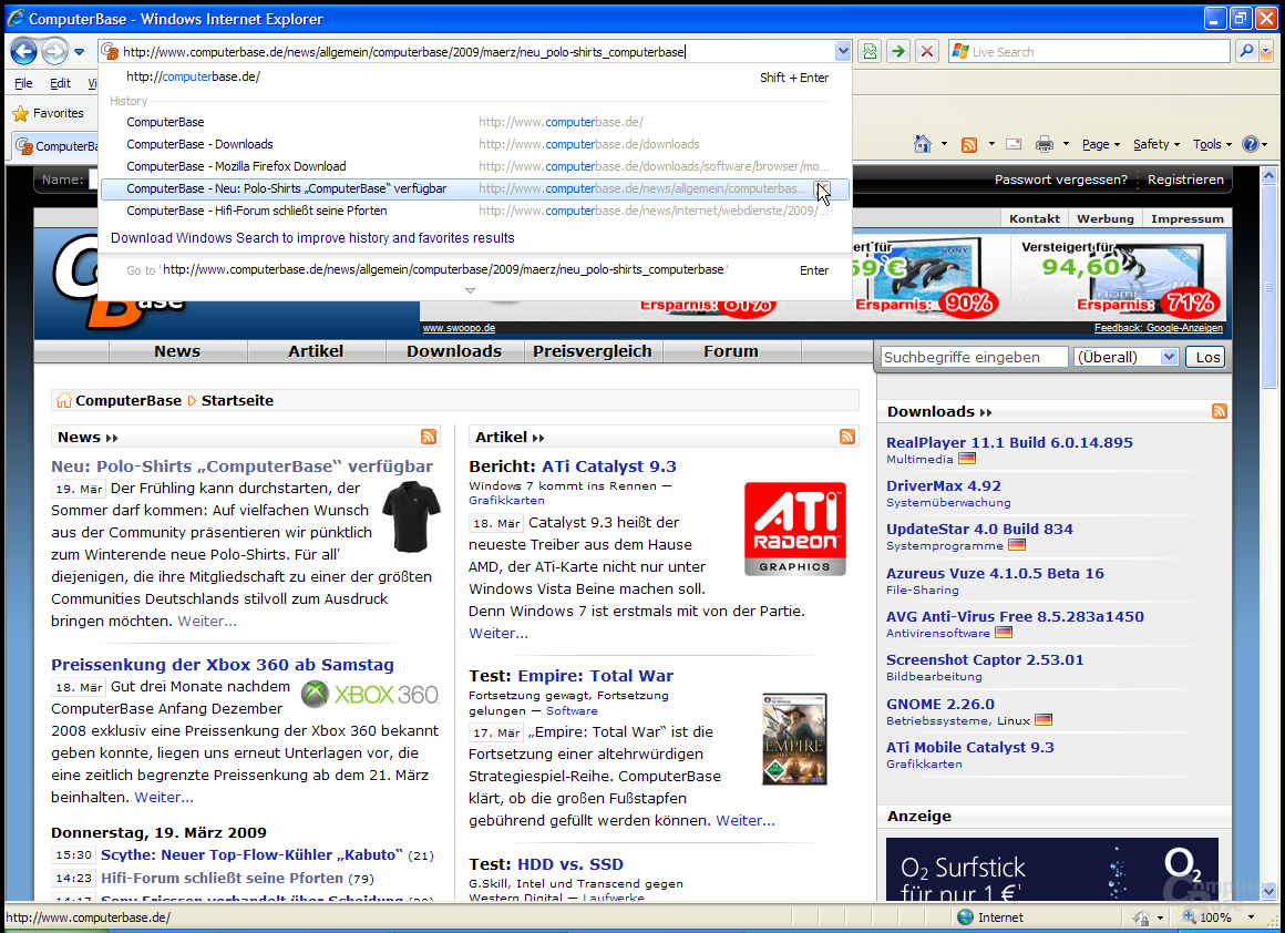 Internet Explorer 8 RC1