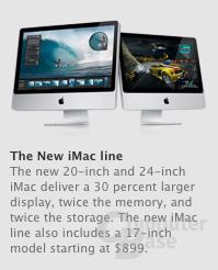 Apple iMac auch wieder mit 17 Zoll