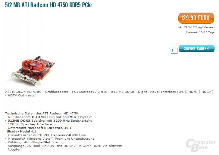 ATi Radeon HD 4750 für 130 Euro?