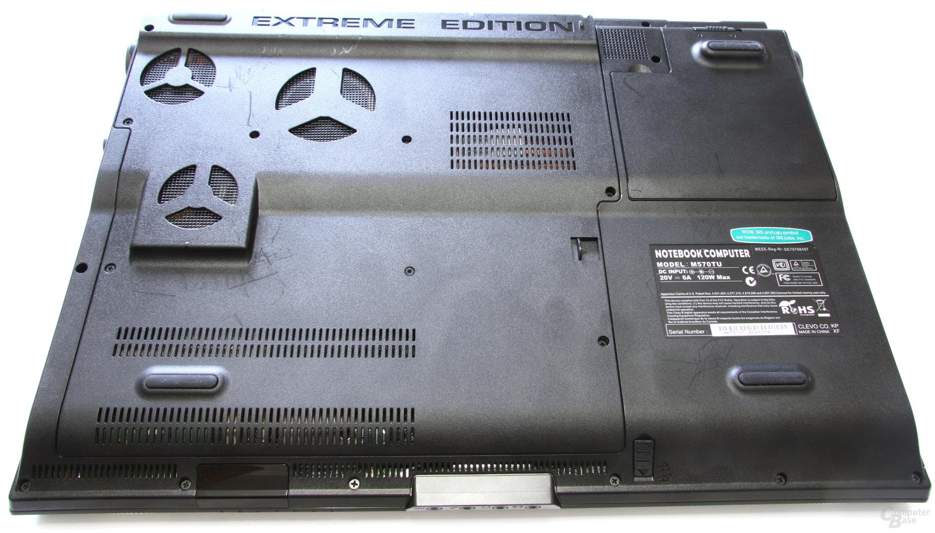 Schenker XMG7 Rückseite
